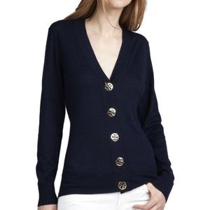 Tory Burch Navy Simone Cardigan